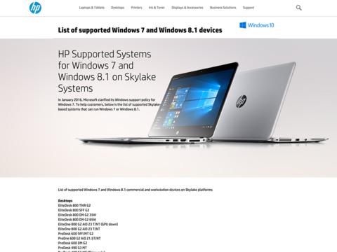最新CPUのWindows 7サポート打ち切りで、企業ユーザーが迫られる選択肢