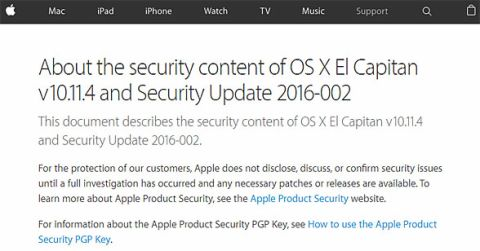 OS X EL Capitanセキュリティアップデート