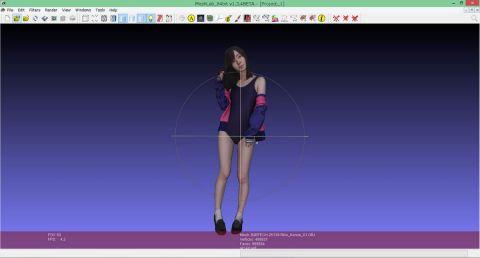 スク水女子、近衛りこさんの3Dデータをじっくり眺めてみた