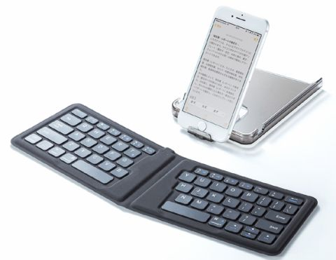 サンワサプライ、折りたたみ式いOS対応キーボード