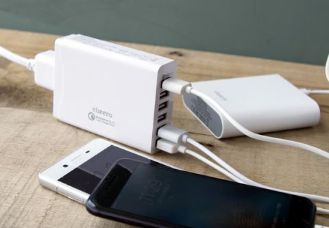 cheero 6 USB AC Charger