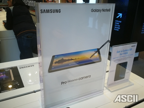 Galaxy Note8 アメリカ発売