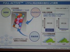 スマホの超狭額縁化を実現する「FULL ACTIVE」技術