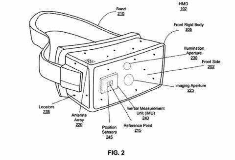 OculusがVRデバイスに関する特許公開