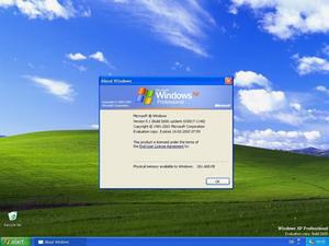 Windows XP Professionalのデスクトップ