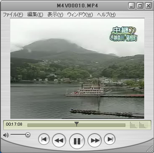 QuickTime Playerで再生したところ