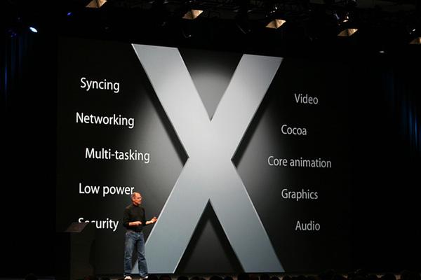 iPhoneはOS Xベースで動作する