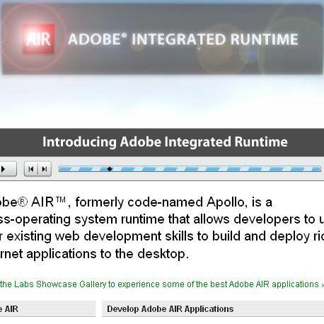 """米アドビ、Apolloの正式名称を""""AIR""""に決定――β版とSDKを提供開始"""