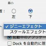 Dockにウィンドウをしまうアニメーションは何種類?