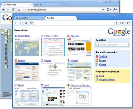 Google ChromeはSafari 3.1相当