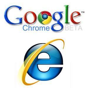 Google Chrome VS IE8ベータ2 速度対決!
