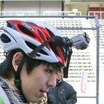 HelmetHeroでママチャリGPの動画を撮った