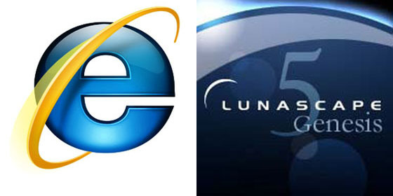IE8 vs Lunascape5