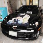 名古屋オートトレンドでお披露目するコルベットの痛車を極秘裏に製造中?