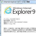ベンチで検証 Internet Explorer 9 RCの互換性と性能