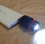 モバイルバッテリーを強力な懐中電灯にする「USB望遠LEDライト」を衝動買い!