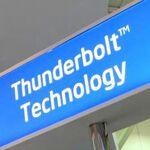 外付けSSDやHDDなどThuderbolt対応デバイスが大量展示中