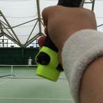 スマホとセンサーを使って、久々にテニス練習を再開した