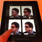 iPadで3Dモデリング 自分出演のカタログでサングラス購入