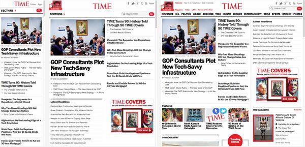 TIME誌に見るレスポンシブWebデザインの威力