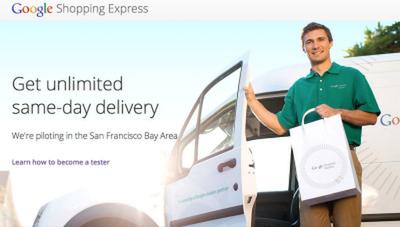 米グーグル、アマゾンに対抗? 当日宅配サービスを試験運用