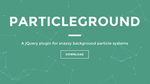 Webサイトの背景をおしゃれに演出 Particleground