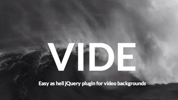 背景に動画を使ったサイトが手軽に作れる Vide