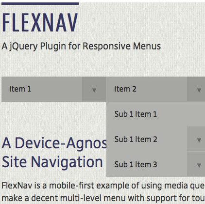 レスポンシブにも対応したドロップダウン FlexNav