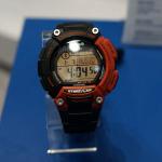 スマホ連携腕時計を前面に押すカシオブース