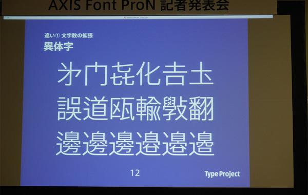 AXISフォントにプロ版が登場、1万5525文字へ拡張