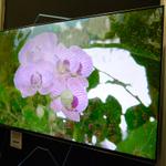 70型で薄さ8mm、コーニングがテレビ用薄型液晶モジュール採用のTV試作品
