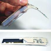 富士通、電池不要で形状自在な無線ビーコンを開発