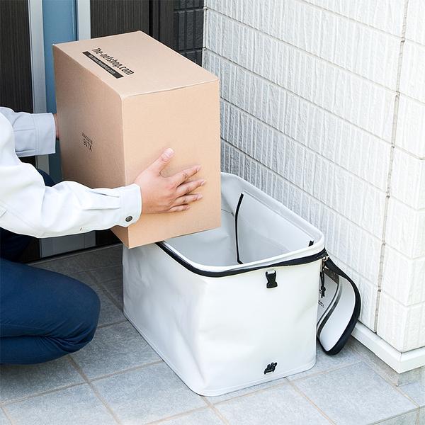 折りたたみ可能!必要なときだけ設置できる宅配ボックス、サンワダイレクト