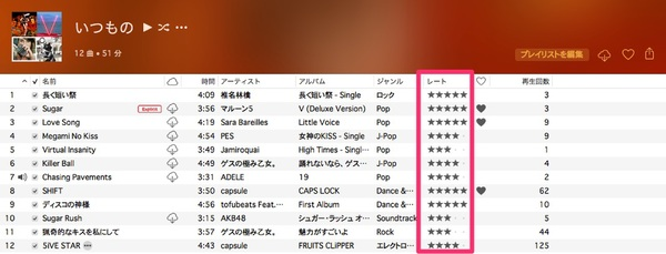 再生 アップル 回数 ミュージック