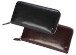 イタリア産の牛革をフル使用でお手頃価格!ファスナー開閉式の長財布