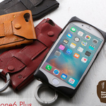 野球のグローブにも使用される、黒毛和牛1枚革のiPhone/Xperiaケース