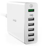 スマホやタブレットを6台同時充電!QuickCharge 2.0対応USB急速充電器