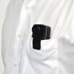 ポケットに装着できる液晶付き小型ウェアラブルカメラ