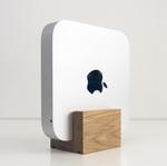 Mac miniを縦置きできる木製スタンドがオシャレ!
