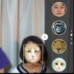 撮影時に顔を動物や別人の写真に合成するXperiaテク