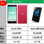 mineo「arrows M02」は月々1458円、11月19日発売