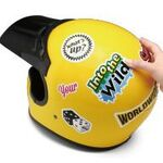 痛ヘルメット・痛スマホの自作に、業界初の塩ビ素材な曲面対応手作りステッカーキット