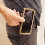 米軍御用達iPhoneケースをワンタッチでベルトに装着しました