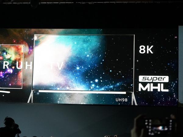 「SUPER UHD TV」の最大モデル(98型)で8Kをリリースするようだ