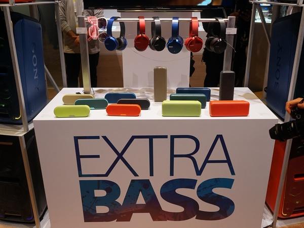 「EXTRA BASS」ブランドのスピーカーも登場