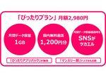 au MVNOのUQ mobile、月2980円で1GBに無料通話、スマホ代もセットの新プラン