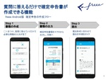 freeeのAndroidアプリ、質問に答えるだけで確定申告が可能に