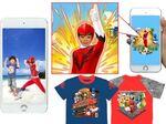 バンダイ、スマホ連動でヒーロー&ヒロインと遊ぶTシャツ