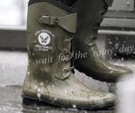 雨の日の足元対策はコレで万全!ミリタリー調レインブーツ