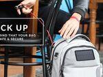 旅のお供に太陽光充電できるケーブル錠内蔵バッグはいかが?